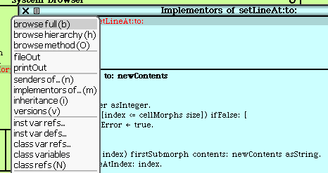Implementors of setLineAt:to: