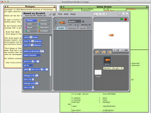 ScratchSource1.4の起動時画面